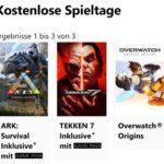 """GRATIS Spiele """"Tekken 7"""", """"Ark Survival Evolved"""" und """"Overwatch Origin"""" bei Xbox Free Play Days kostenlos spielen"""