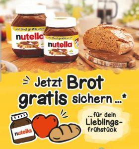 Gratis Brot bei Kauf eines Aktionsglases Nutella