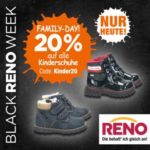 Reno: 20% Rabatt auf Kinderschuhe - nur heute