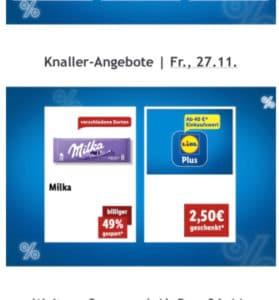 Lidl: 2,50€ geschenkt ab 40€ Einkauf *nur am Freitag*