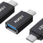 3 AUKEY USB C Adapter auf USB 3.0 A mit OTG für Type C Geräte für 5,84 € (PVG 8,99 €) für Amazon-Prime Kunden