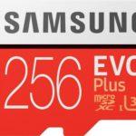 Samsung »EVO Plus microSD« Speicherkarte (256 GB, 100 MB/s) für 22€