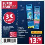 Ab 19.10.: 12x Oral-B Aufsteckbürsten Precision Clean oder Soft Clean für 1,475 € / Stück mit Gutscheinen + GzG
