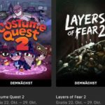 "GRATIS: ""Costume Quest 2"" + ""Layers of Fear 2"" + 16 weitere Spiele (Epic-Games-Store)"