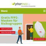 Pharmeo: gratis 6x FFP2-Masken für Risikogruppen (ohne 2€ Eigenanteil)