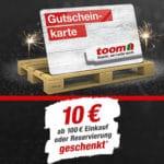 toom Neujahrsaktion: 10€ Gutschein für jeden Einkauf über 100€