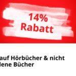 [Nur heute] 14% Rabatt auf Hörbücher und nicht preisgebundene Bücher bei Bol