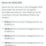 Cominvest (Robo Advisor der Comdirect) mit bis zu 700€ Prämie