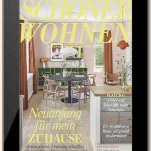 Für nur 5€ Jahresabo SCHÖNER WOHNEN (Digital E-Paper)