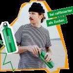 """GRATIS """"Metall-Trinkflasche"""" als Give-away geschenkt von der AOK bis  21.04.2021."""