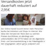 OTTO: Versandkosten dauerhaft halbiert - 2,95 statt 5,95 Euro
