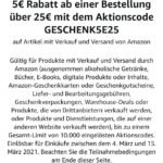 5€ Rabatt bei Amazon ab 25€ mbw