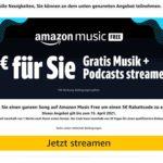 Amazon Music Free + 5€ Gutschein bekommen