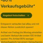 [Endet heute] Ebay: 30% - 80% reduzierte Verkaufsgebühr