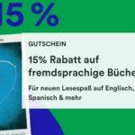 Thalia: 15% Rabatt auf fremdsprachige Bücher bis 18.04.21