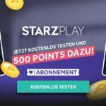 RakutenTV: Starzplay 2 Wochen gratis testen + 500 Punkte