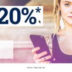 20% Rabatt auf alles in der EMP-APP