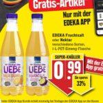 """GRATIS """"EDEKA Fruchtsaft oder Nektar verschiedene Sorten,  1-L-PET-Einweg-Flasche""""bei Edeka-Südwest mit der Edeka Genuss+ App vom 07.-12.06.21 ab 5€ Einkauf"""
