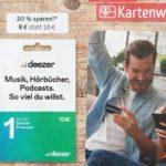 20% sparen bei *Deezer* mit Geschenkkarten von Rewe vom 14.-20.06.21