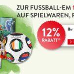12% sparen zur Fußball-EM bei Hugendubel bei Spielwaren, Filmen und mehr bis 21.06.21