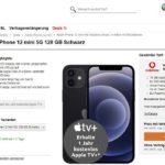 iPhone 12 Mini + Vodafone Vertrag mit Allnet Flat und 15 GB