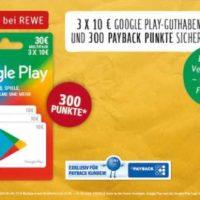 10 payback cashback bei kauf von google play guthaben bei rewe