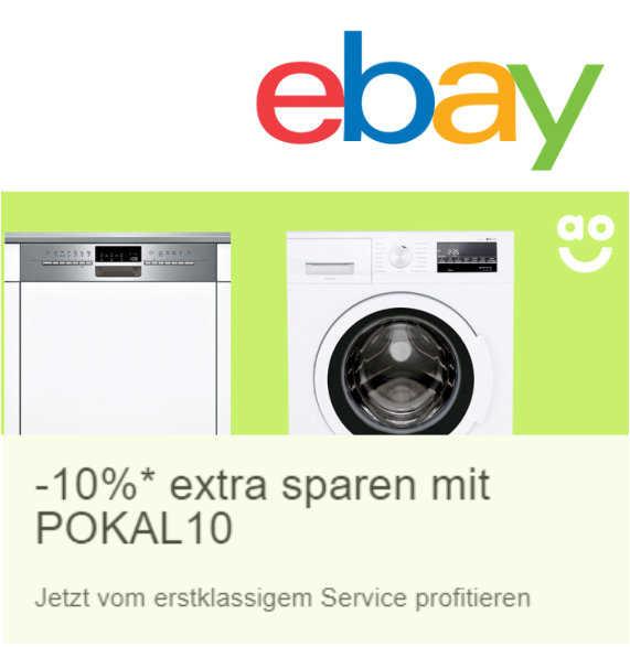 10 rabatt im ao shop bei ebay mit den gutscheincode pokal10