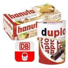 10e bahn gutschein in aktionspackungen von duplo und hanuta ab 18 12