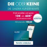 10€ geschenkt bei Galeria-Karstadt-Kaufhof ab 60€ Einkauf