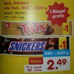 11+1 Mars, Snickers und Twix für nur 2,49€ + 5€ Newsletter-Gutschein