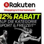 12% Rabatt auf die Kategorie Sport & Freizeit bei Rakuten