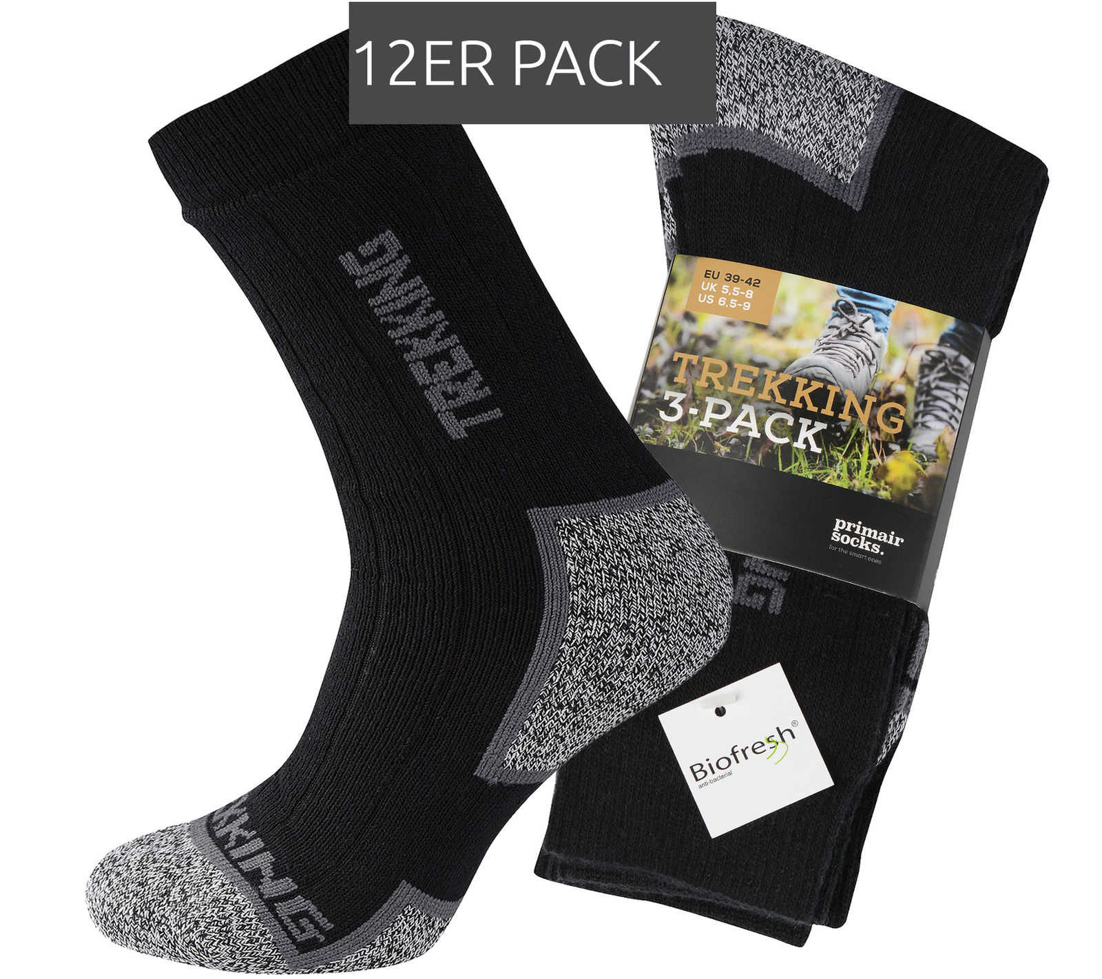 12er pack primair socks trekkingsocken fuer 1799e inkl versand statt 2299e