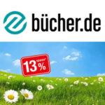 13% Rabatt Gutschein bei bücher.de