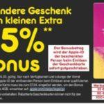 15% Extra Guthaben auf iTunes Karten