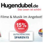 15% Rabatt au Filme & Musik bei Hugendubel