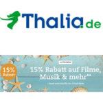 15% Rabatt auf Filme, Musik & mehr