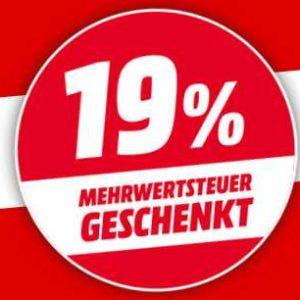 [Knaller] 19% MwSt-Rabatt-Aktion bei MediaMarkt - Gültig auf Alles, ab 20 Uhr!