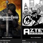 """2 Spiele """"Aztez"""" und """"Kingdom Come Deliverance"""" kostenlos im Epic-Games-Store downloaden"""