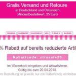 20% auf bereits reduzierte Artikel bei Lace.de