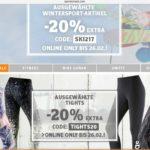 20% bei Sportscheck auf Tights und Wintersportartikel