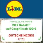 20 € Rabatt auf Gasgrills bei Lidl