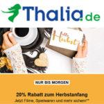 20 % Rabatt auf Filme, Spielwaren  und mehr bei Thalia