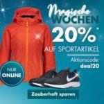 20% Rabatt auf Sportartikel bei Galeria-Karstadt-Kaufhof im Onlineshop