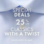ETON: 25% Rabatt auf Hemden, Krawatten, etc.