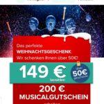 25% sparen bei Travelcircus: 200€-Musical-Gutschein für 149€