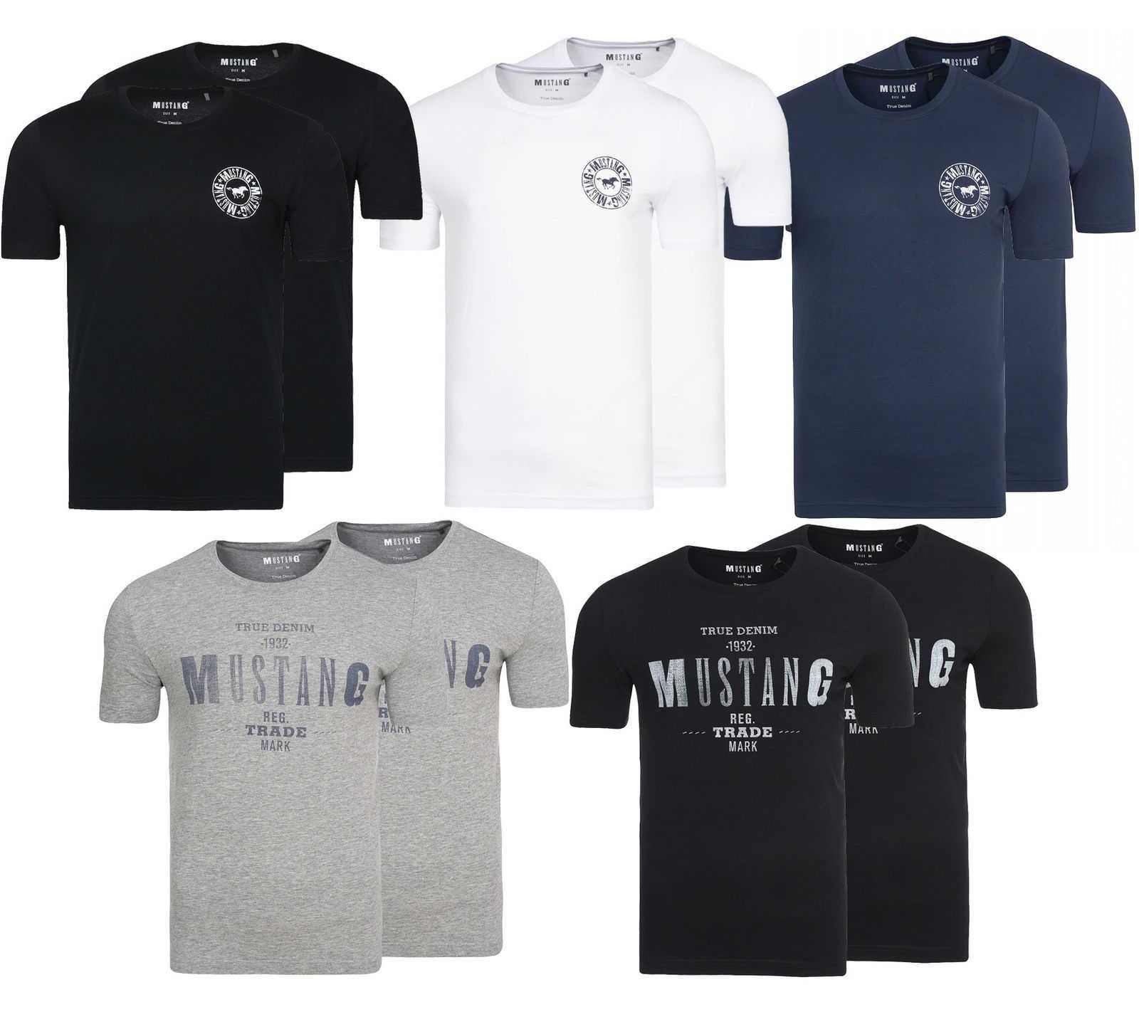 2er pack mustang herren t shirt