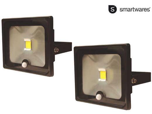 2x smartwares led flutlicht mit sensor 30 w