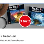 """3 für 2: Jetzt gibt es 3 """"Die drei ???"""" Hörbücher zum Preis von 2 bei Bol"""