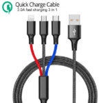 3 in 1 USB Quick Charge Kabel 1m