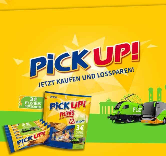 3€ Flixbus/Flixtrain Gutschein in PICK UP ...